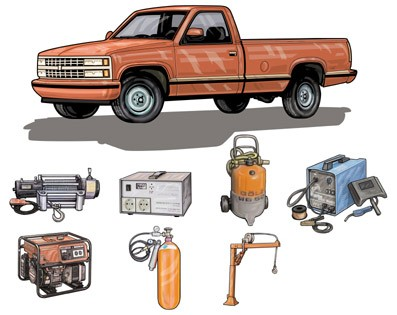 518_Pickup,truck,icons,fin